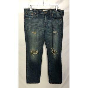 Madewell Boyjean Distressed Boyfriend Jeans 30